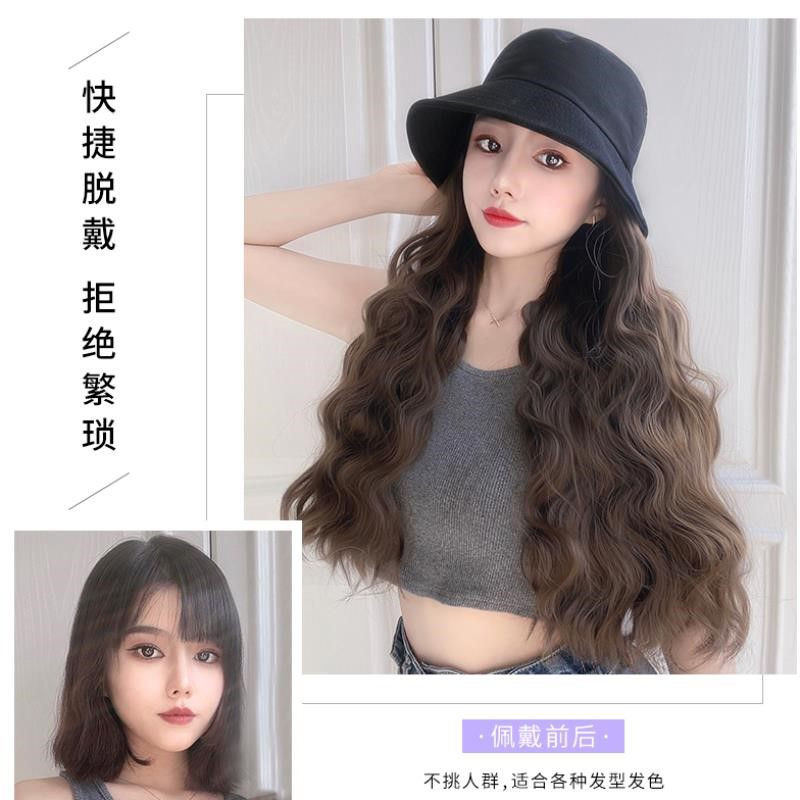 Hat suitable for wig, real hair for women in winter, human hair in autumn and winter, silk wool in autumn and winter