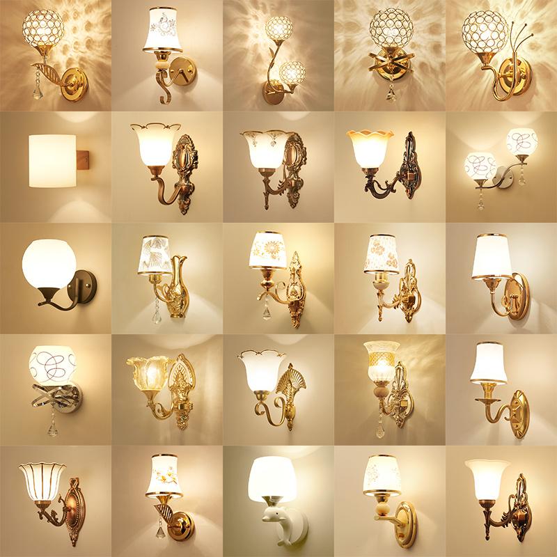 壁灯床头灯卧室简约现代创意欧式美式客厅楼梯LED背景墙壁灯具