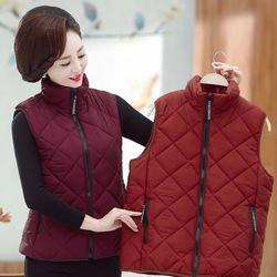 中老年女装冬装加厚棉衣马甲中年妈妈装保暖宽松加肥加大码棉服