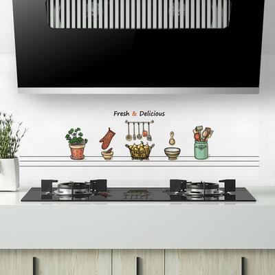 家用装饰厨房防油贴纸灶台防水透明加厚自粘侧吸油烟机专用墙纸贴