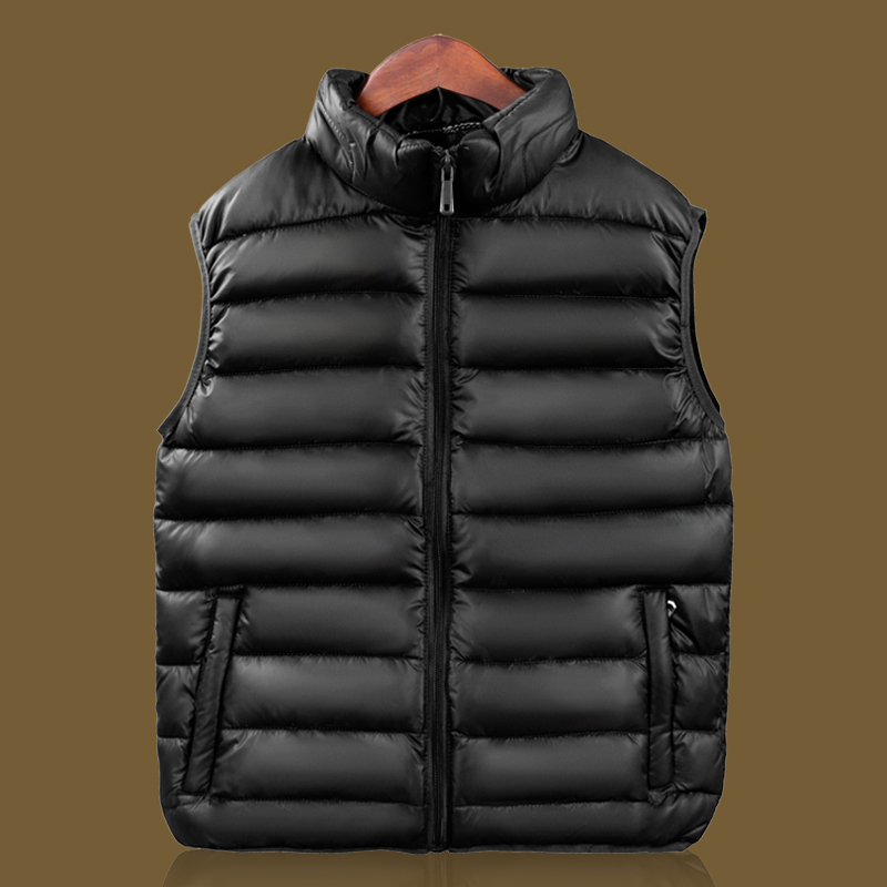 New mens Cotton Camisole youth vest warm and thick in winter large middle-aged vest mens father coat down cotton