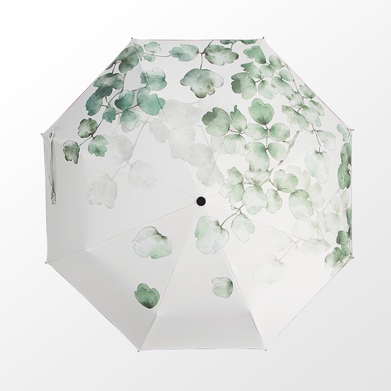 太阳伞遮阳伞防晒防紫外线女雨伞折叠晴雨两用伞森系复古简约自动