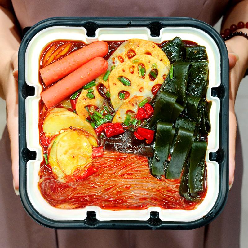 热销693件有赠品融邦方便即食懒人素食牛肉粉丝锅