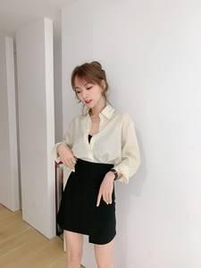 卡卡正品JUST CC/韩版百搭不规则造型A字裙女半身短裙