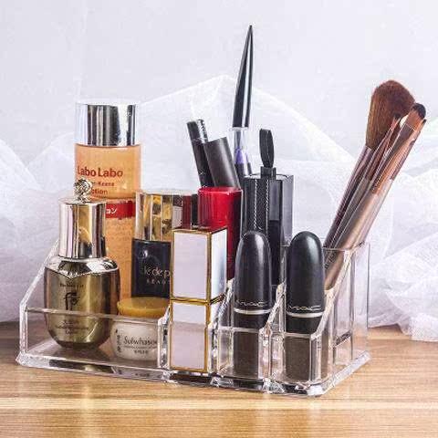 透明口红架化妆品收纳盒 唇膏收纳盒展示彩妆架指甲油粉饼香水架
