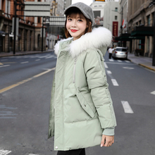 Cotton padded jacket 2019 new Korean version loose cotton padded jacket thickened down cotton padded jacket for female students bread jacket winter coat trend
