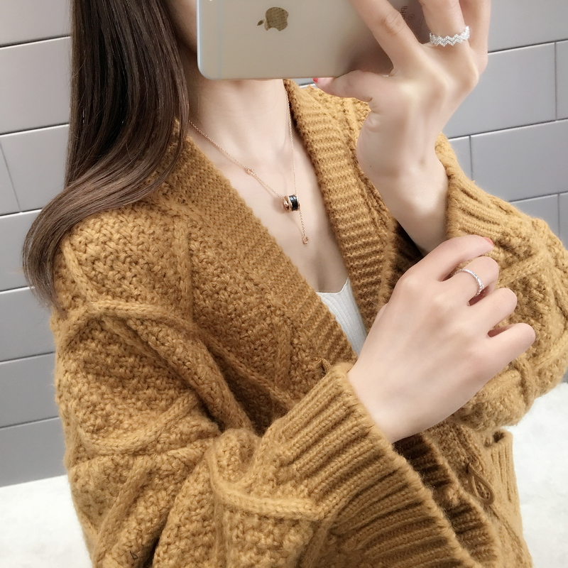 Net red sweater womens cardigan coat 2020 spring and autumn new style very fairy coat foreign style knitwear loose lazy style