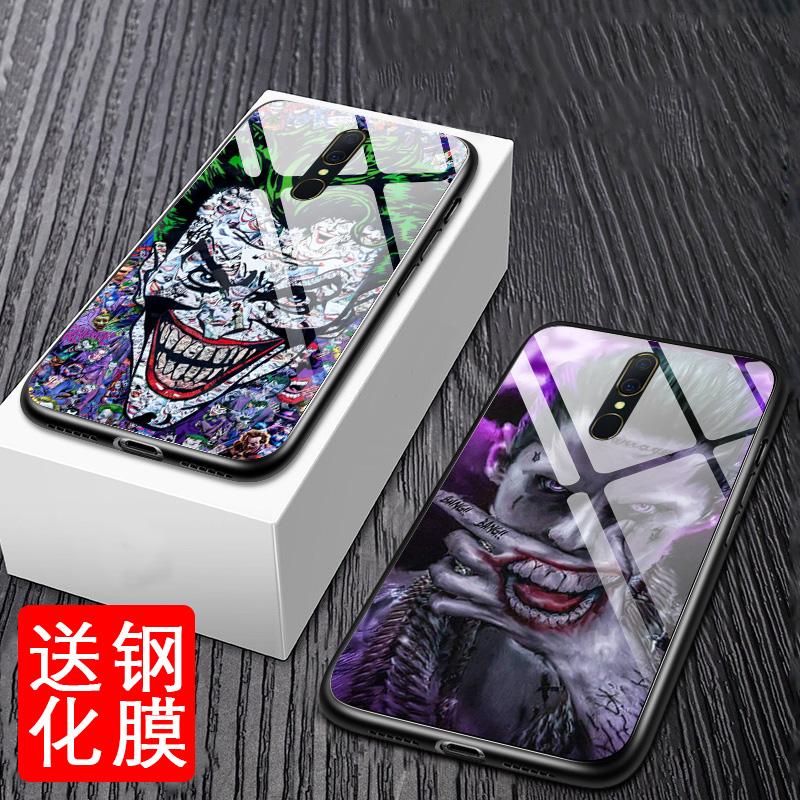 蝙蝠侠小丑oppoa9玻璃镜面手机壳11-30新券