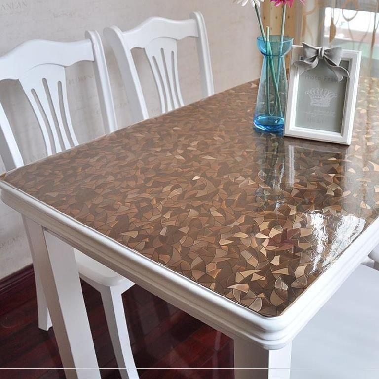 茶桌垫餐桌布水晶板餐垫方形大尺寸桌上pvc定制书桌花色写字台