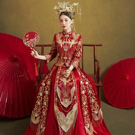 秀禾服2020新款结婚新娘婚纱中式凤冠霞帔嫁衣秀禾显瘦秀和服禾服图片