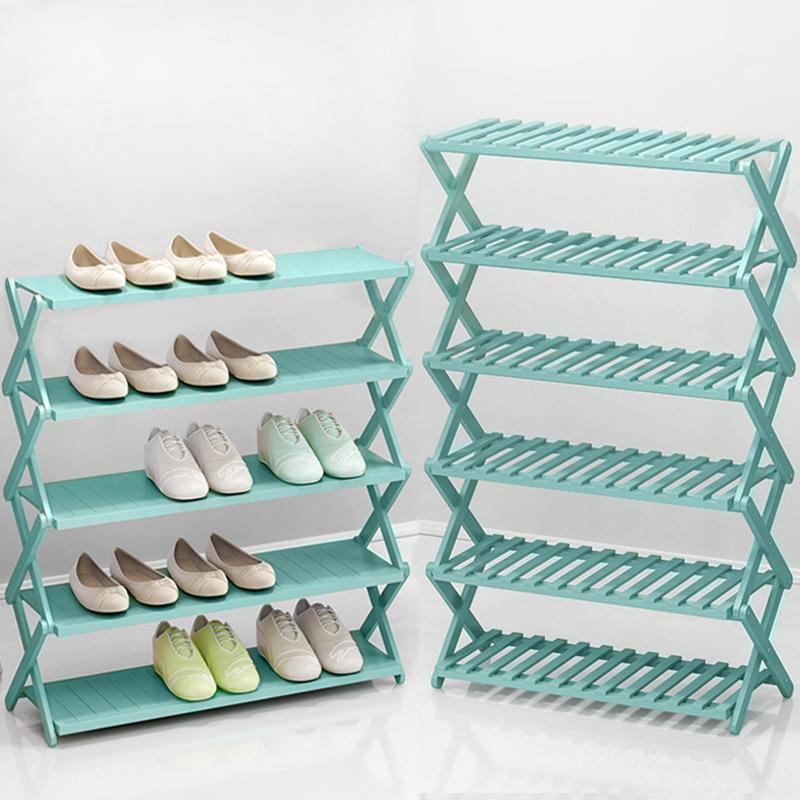 免安装鞋架可折叠宿舍多层简易家用经济型门口收纳鞋柜实木多功能图片