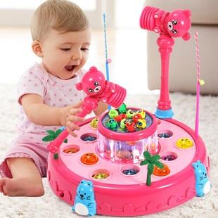 儿童打地鼠钓鱼玩具 幼儿敲打早教2-3-4岁宝宝两三周女男孩益智力
