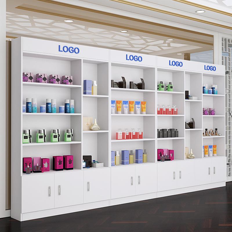 化妆品展示柜超市货架展示架自由组合简约美容院产品展示柜陈列柜