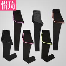 瑜伽服女套装专业宽松束脚潮紧身直筒跑步灰色瑜珈裤运动裤女秋季