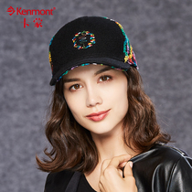 Baseball Hat Female Korean edition tide wool hat fashion color Embroidery Street Hip hop fedora Outdoor warm cap