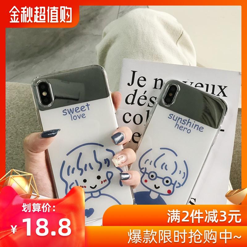 18.80元包邮化妆镜华为P20手机壳nova3/4荣耀10/v20防摔mate20/P30 P