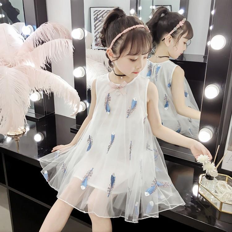 女童超仙纱裙连衣裙 2019夏韩版 新款 洋气时尚中小童可爱公主裙