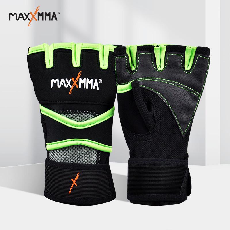 迈玛半指健身手套男女器械训练专业防护凝胶防滑多功能运动手套