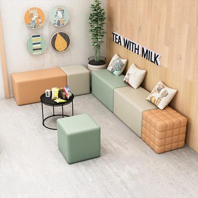 办公室教育培训机构商务会客接待休息区创意简约小型沙发茶几组合