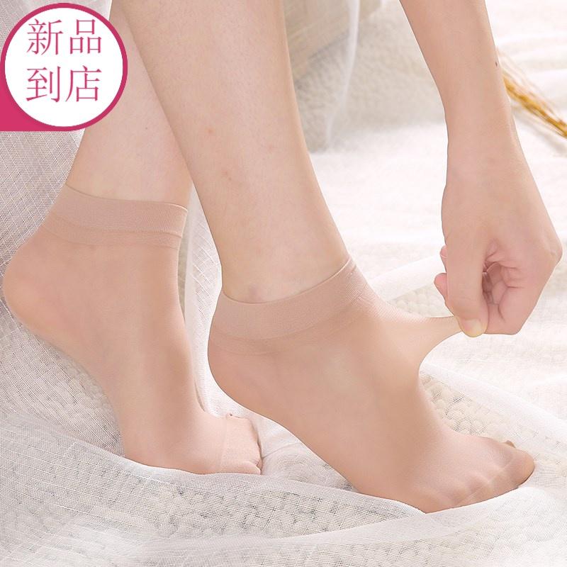 Silk stockings childrens thin non slip anti hook silk boat socks shallow mouth invisible summer short black flesh socks