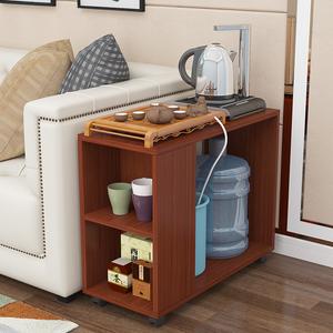 简易茶桌可移动小茶几茶台边几沙发边柜家用喝茶桌子功夫茶几带轮