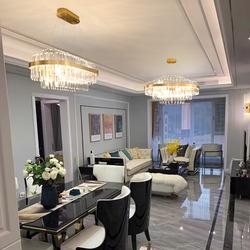 后现代轻奢客厅简约大气水晶吊灯