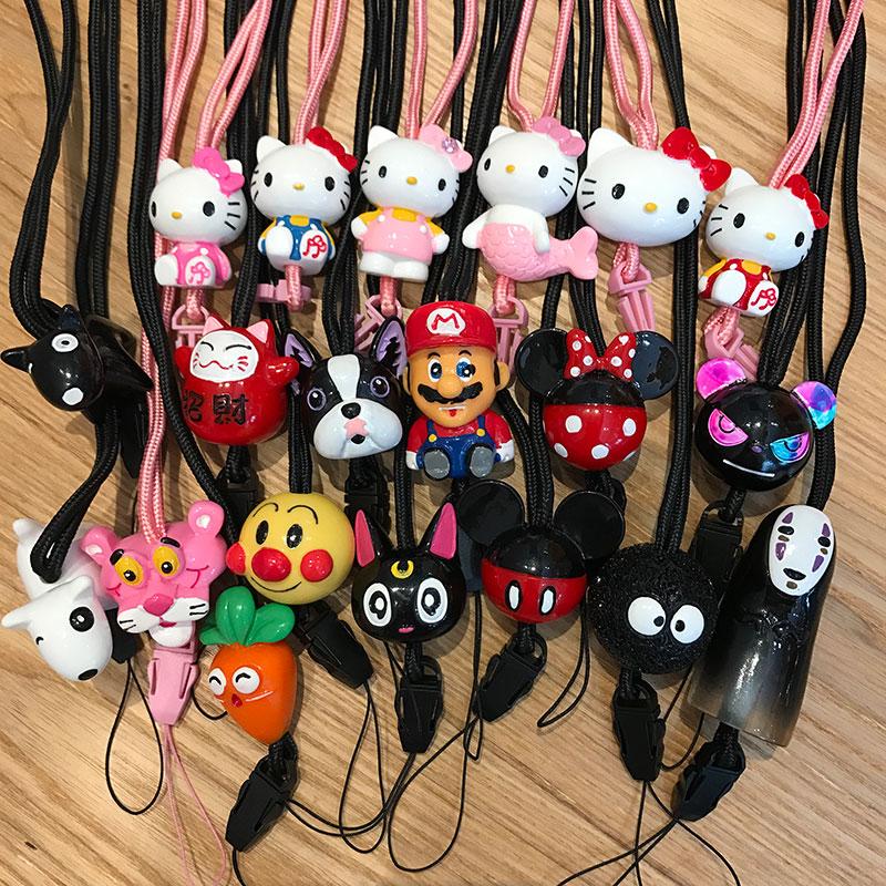 手机挂绳立体挂脖绳吊绳韩国女款卡通可爱挂饰防丢挂件苹果通用潮