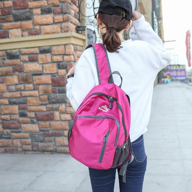 皮肤包 男女款超轻运动旅游双肩包户外可折叠包登山包便携收纳包