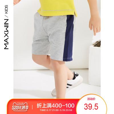 maxwin马威男小童18个月-4岁男童针织五分裤运动短裤172347109