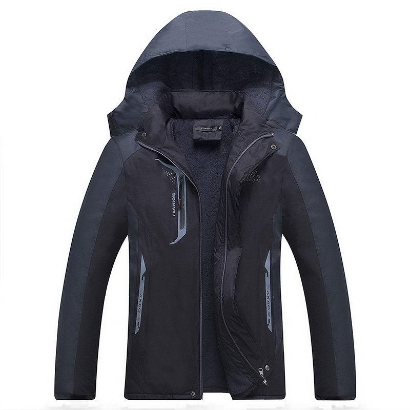 Stormsuit work clothes outdoor short cotton padded clothes with plush and thickened warm and cold proof cotton padded jacket for men