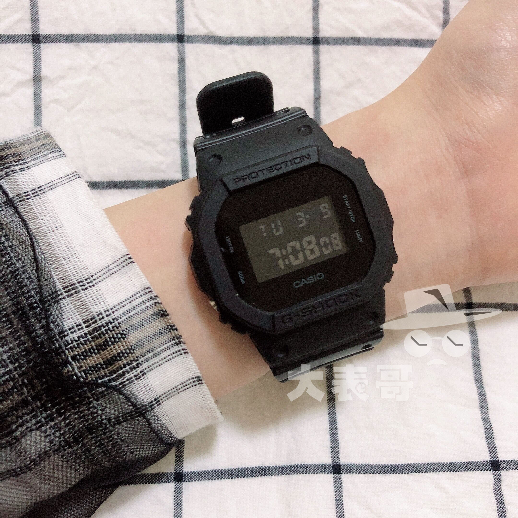CASIO卡西欧G-SHOCK方块手表DW-5600BB/BBN/MS-1D D(用15元券)