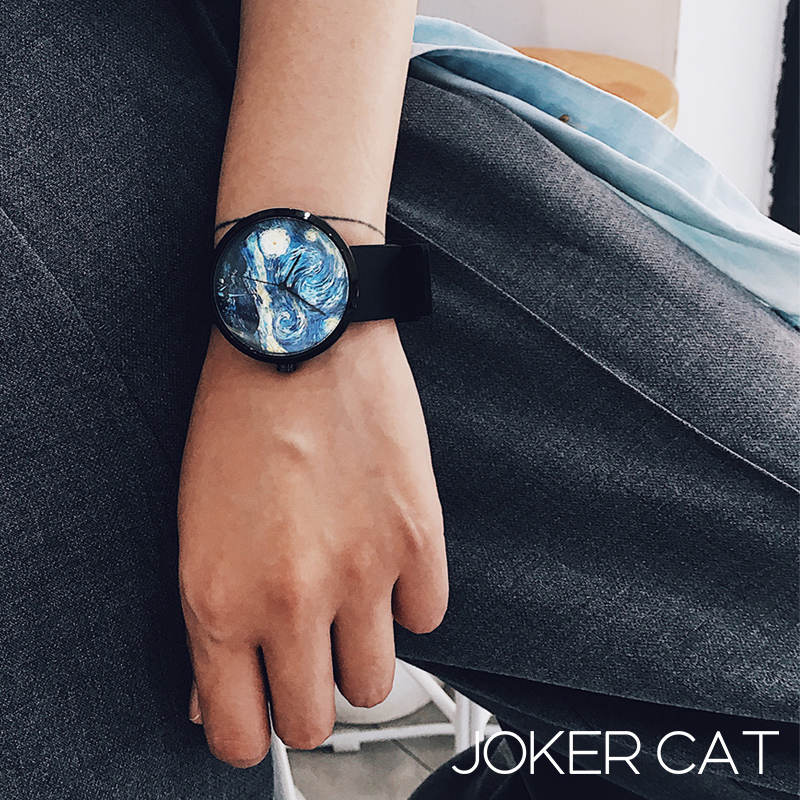 Jokercat watch mens and womens star sky trend ins wind couple minority middle school students concept creativity trend fashion