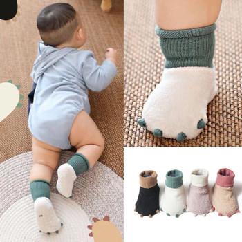 婴儿袜子秋冬季加厚保暖新生儿0-3