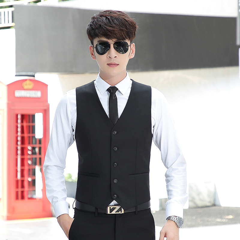 Spring and Autumn Korean Edition Chao Shaping Western Armor Men's English Suit vest Leisure Professional Master's Armor