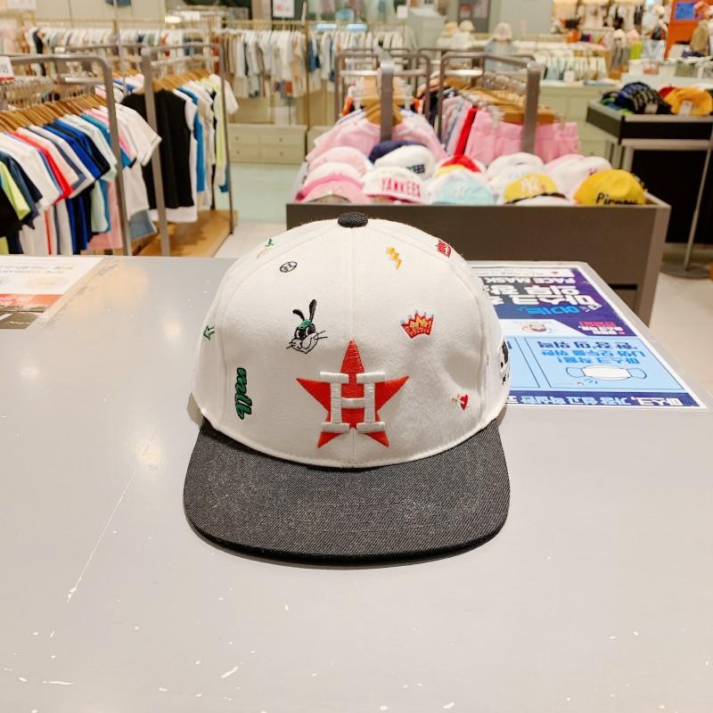 现打折款MLB潮牌韩国代购夏.儿童洋气卡通可爱休闲百搭遮阳帽B911