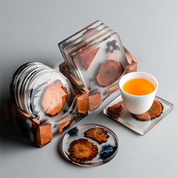 澜扬创意日式树脂隔热杯垫圆形杯垫方形杯垫功夫茶道防烫茶杯杯垫
