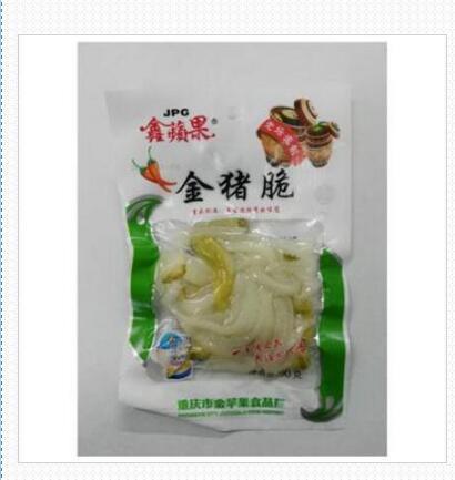 鑫苹果金猪脆90g泡椒猪皮香辣爽口重庆特产休闲零食小吃猪皮晶