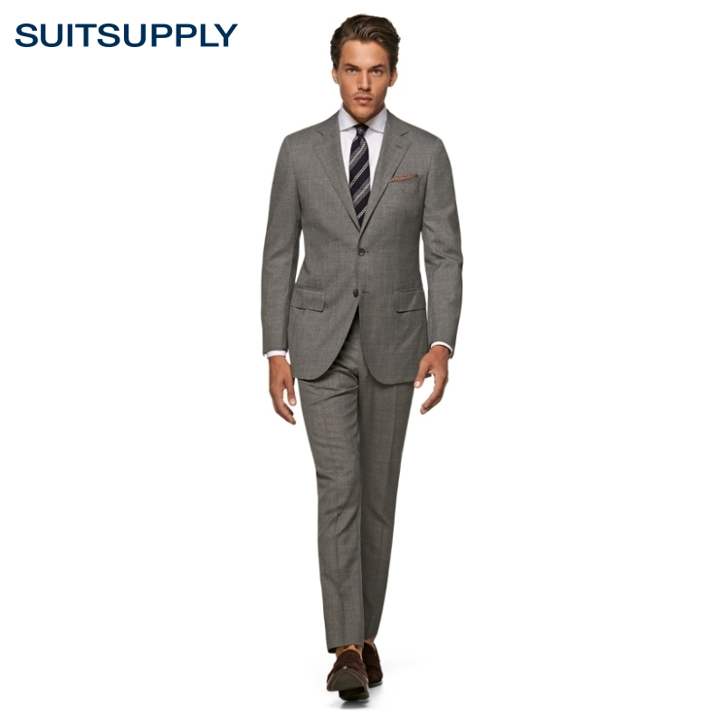 suitsupply-lazio灰色s110支羊毛