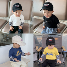 Fake two T-shirts for boys and babies in Linlin's baby clothes