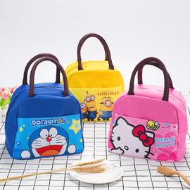 饭盒袋帆布手拎袋卡通可爱猫儿童防水手提袋学生带饭便当袋手提包