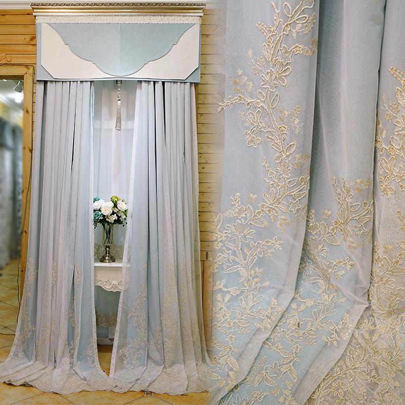 轻奢窗帘卧室少女公主风遮光客厅现代简约温馨欧式窗帘2021年新款