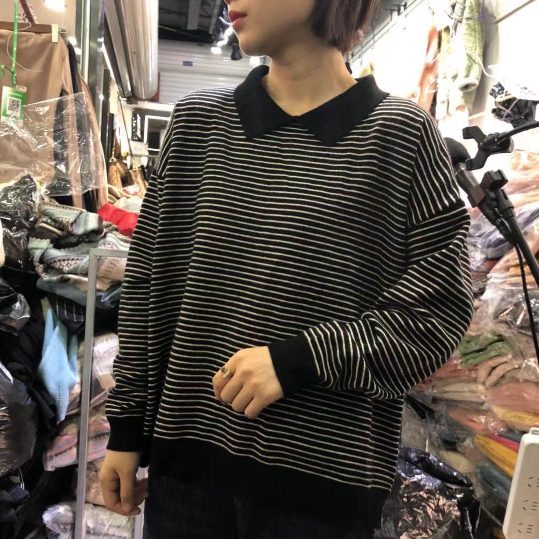 【秋款大上新】2019秋款精品条纹羊绒毛衣 SH2F136-WQLDZ105