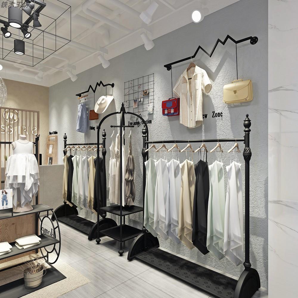 11月02日最新优惠服装店铁艺中岛架婚纱店展示货架