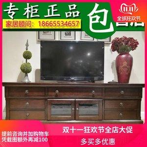 爱室丽越南进口家具美式乡村W697电视柜大号地柜客厅电视桌