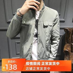 男士春季2020新款时尚短款棒球服韩版修身薄款机车夹克休闲男外套