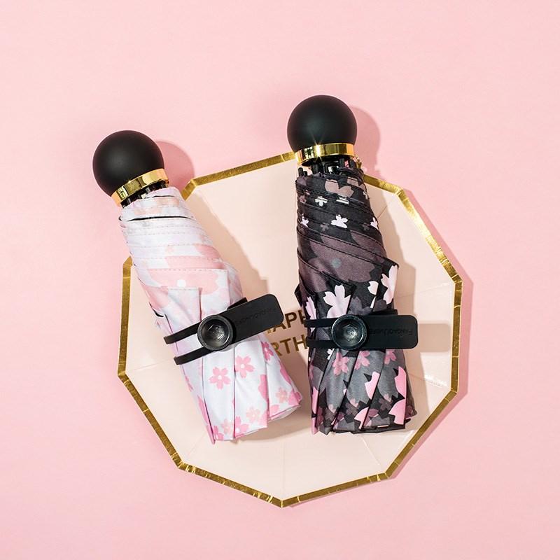 2018樱花太阳伞遮阳防晒防紫外线女5折晴雨伞两用铅笔手机超促销