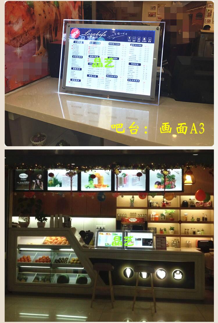 Показать прозрачную лицензионную карту свет Освещение ящика панель Фон настенный магазин для ногтей