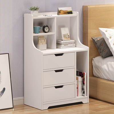 Nordic bedside cabinet simple storage cabinet simple modern solid wood color bedside cabinet bedroom small table economical