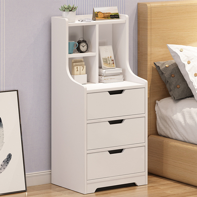 Simple modern bedside table bedroom simple storage storage economy cabinet Nordic bedside small table with bookshelf