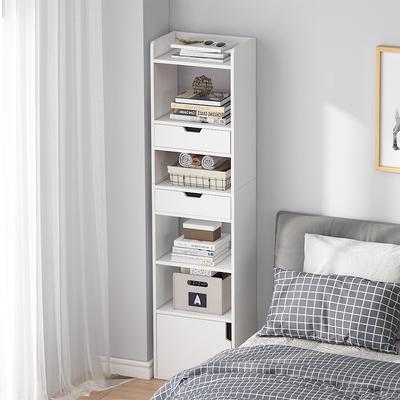 Bedside cabinet ultra-narrow gap storage cabinet simple modern small mini bedroom bedside storage cabinet high shelf